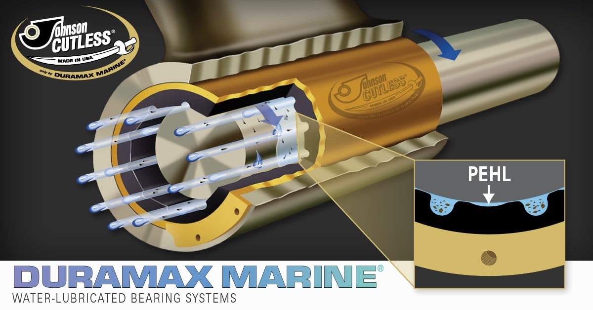 Johnson Cutless® Water-Lubricated Bearing Systems: Naval